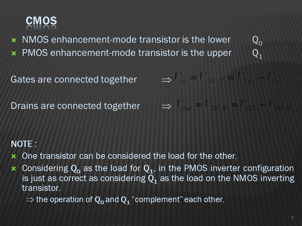 CMOS NMOS enhancement-mode transistor is the lower Q0