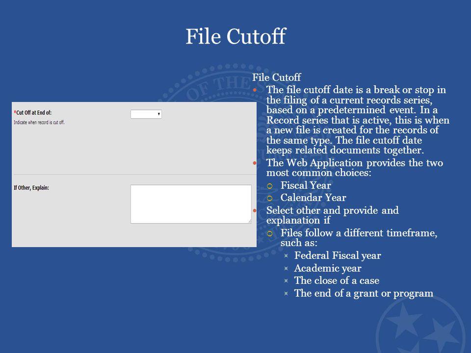 File Cutoff File Cutoff