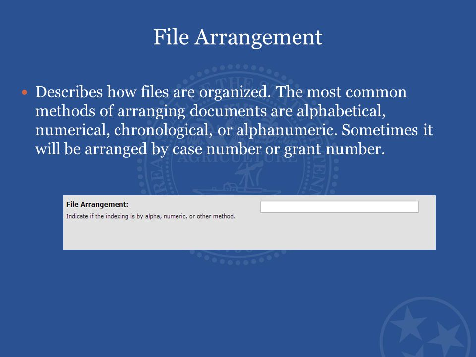 File Arrangement