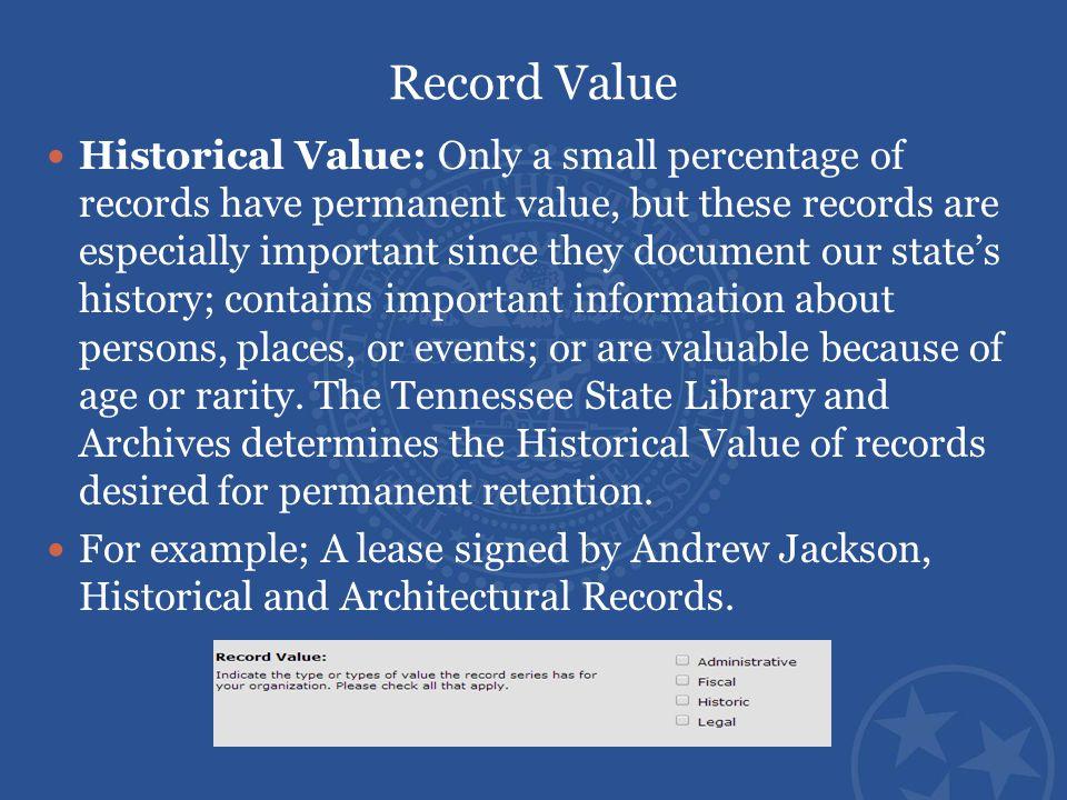 Record Value