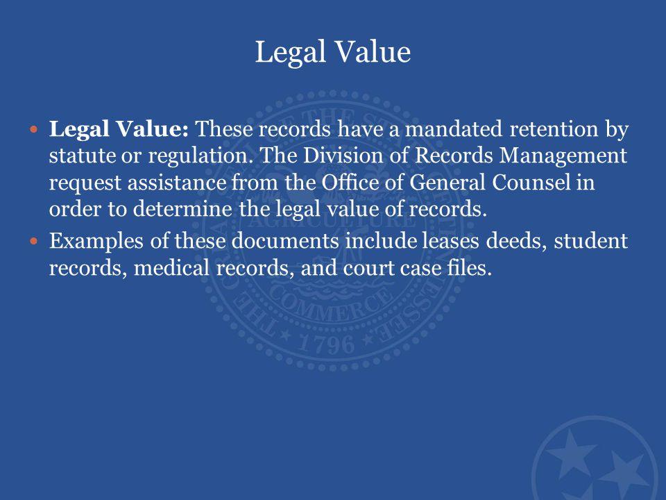Legal Value