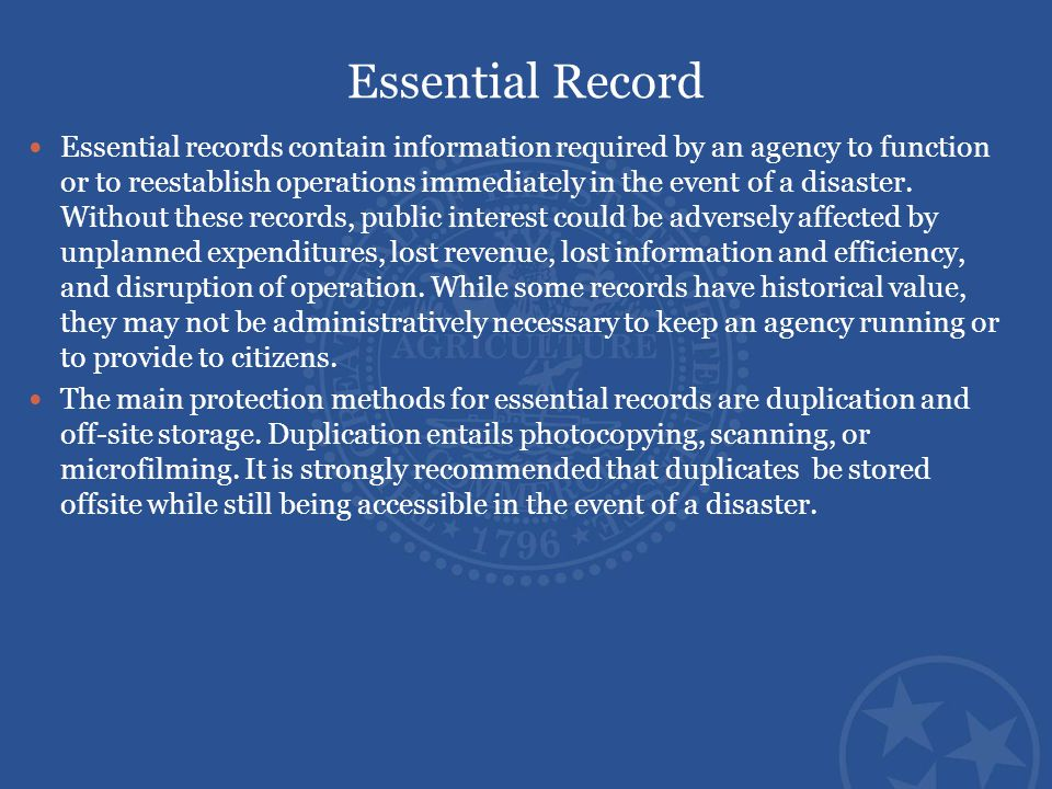 Essential Record