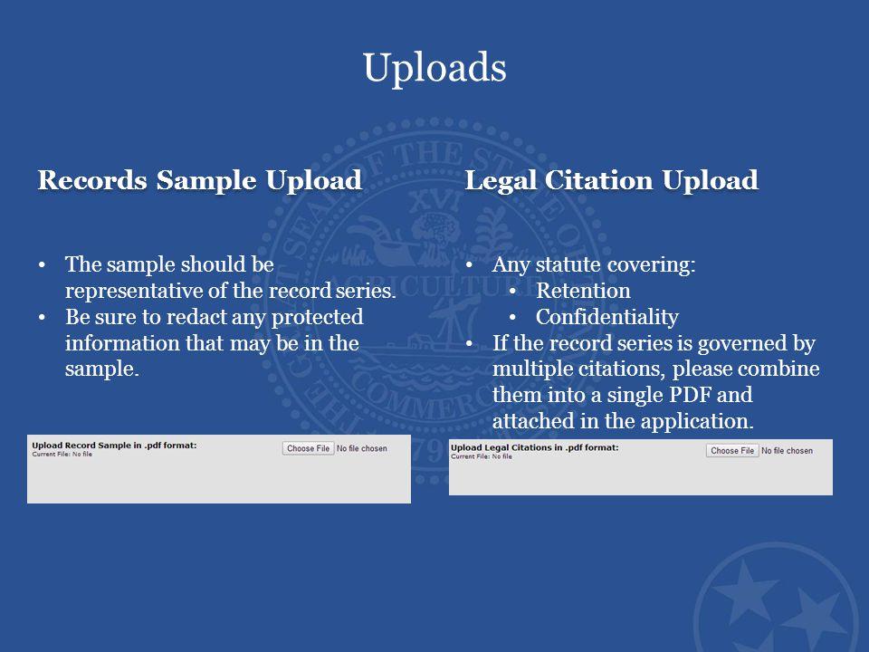 Uploads Records Sample Upload Legal Citation Upload