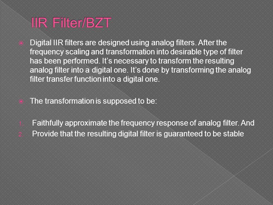 IIR Filter/BZT
