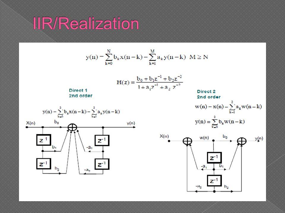 IIR/Realization