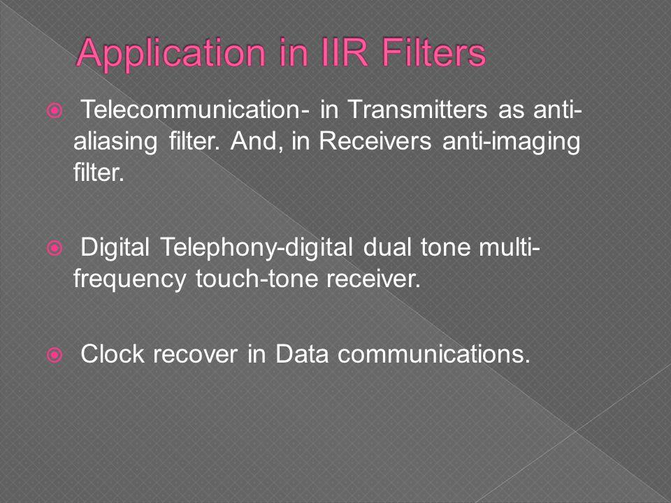 Application in IIR Filters