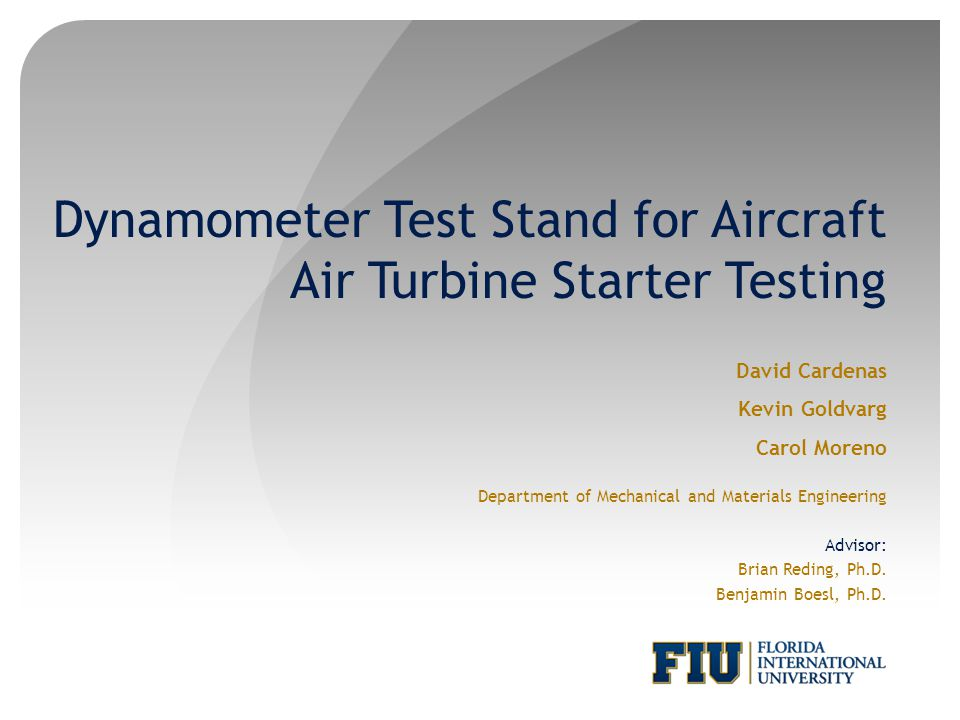 Dynamometer Test Stand for Aircraft Air Turbine Starter Testing