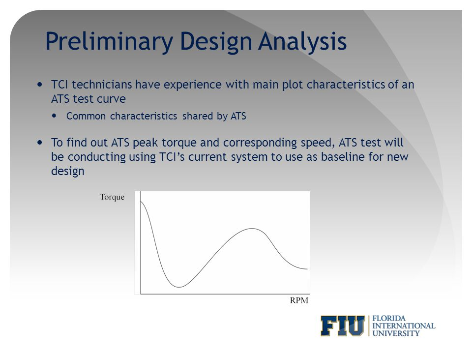Preliminary Design Analysis