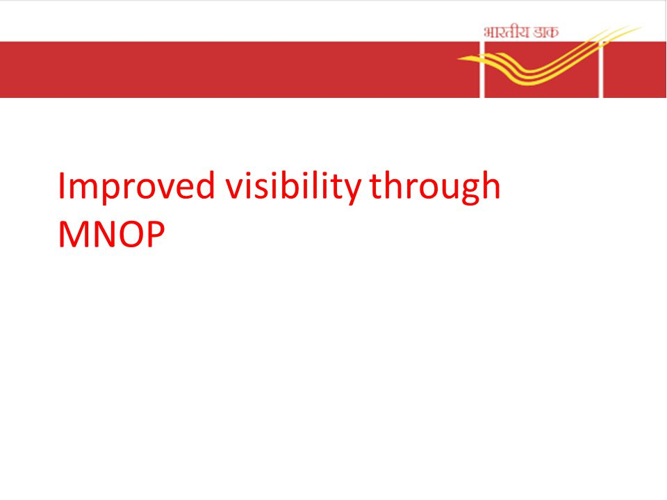 Improved visibility through MNOP