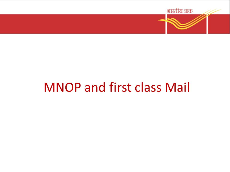 MNOP and first class Mail