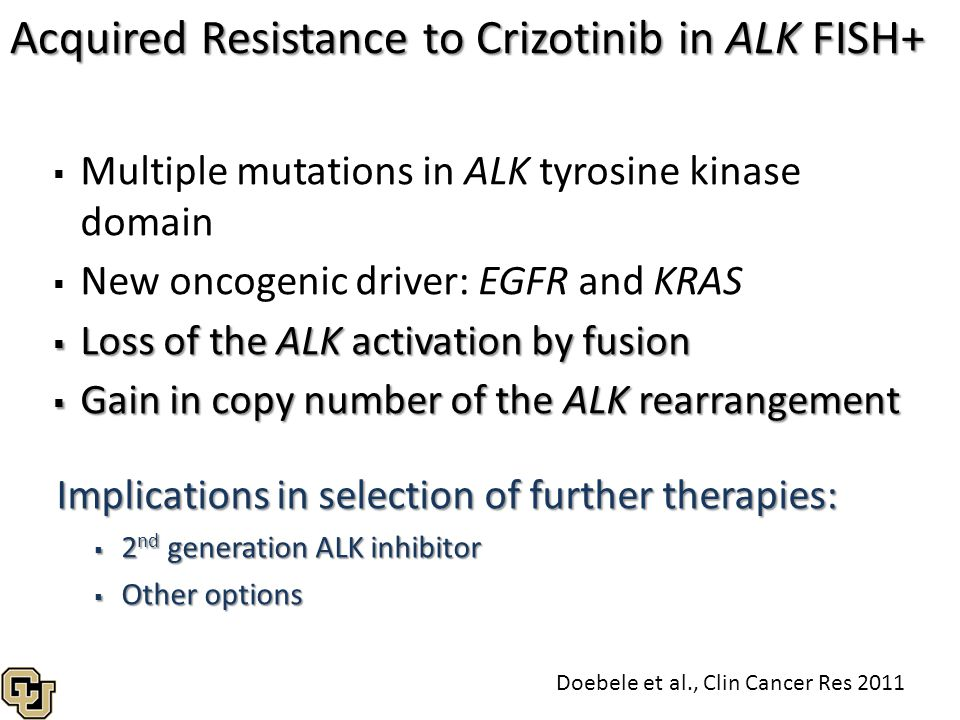 Acquired Resistance to Crizotinib in ALK FISH+