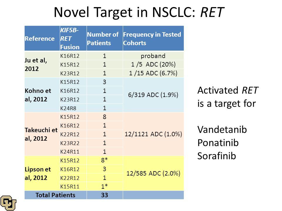 Novel Target in NSCLC: RET