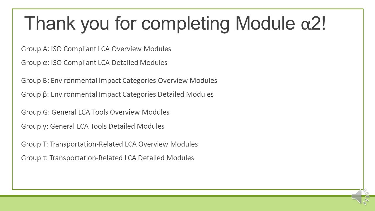 Thank you for completing Module α2!