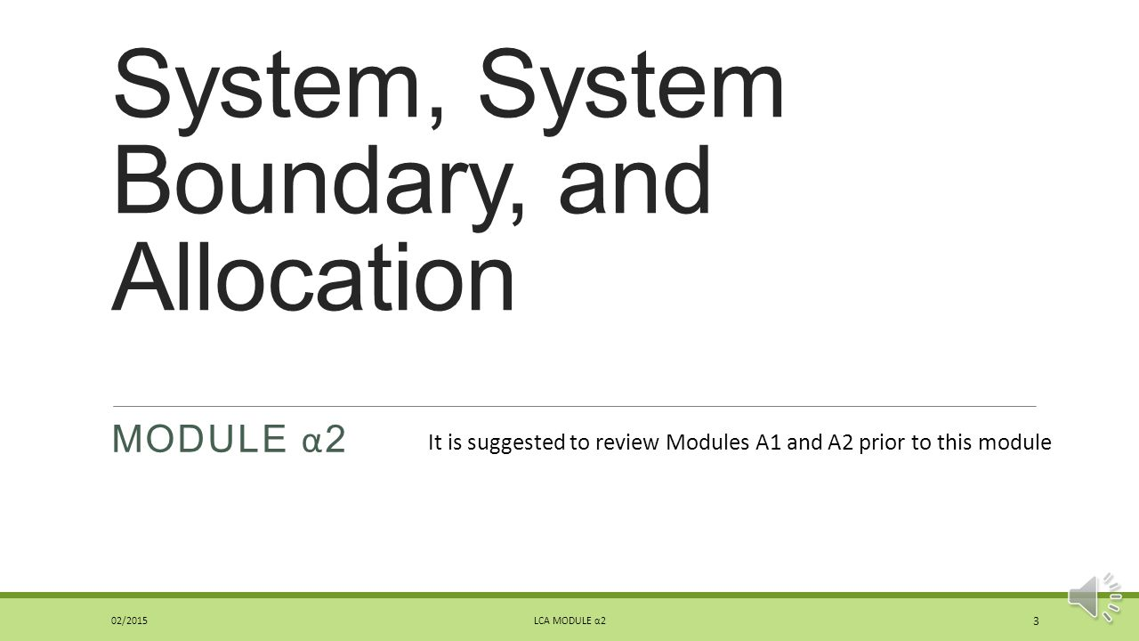 System, System Boundary, and Allocation