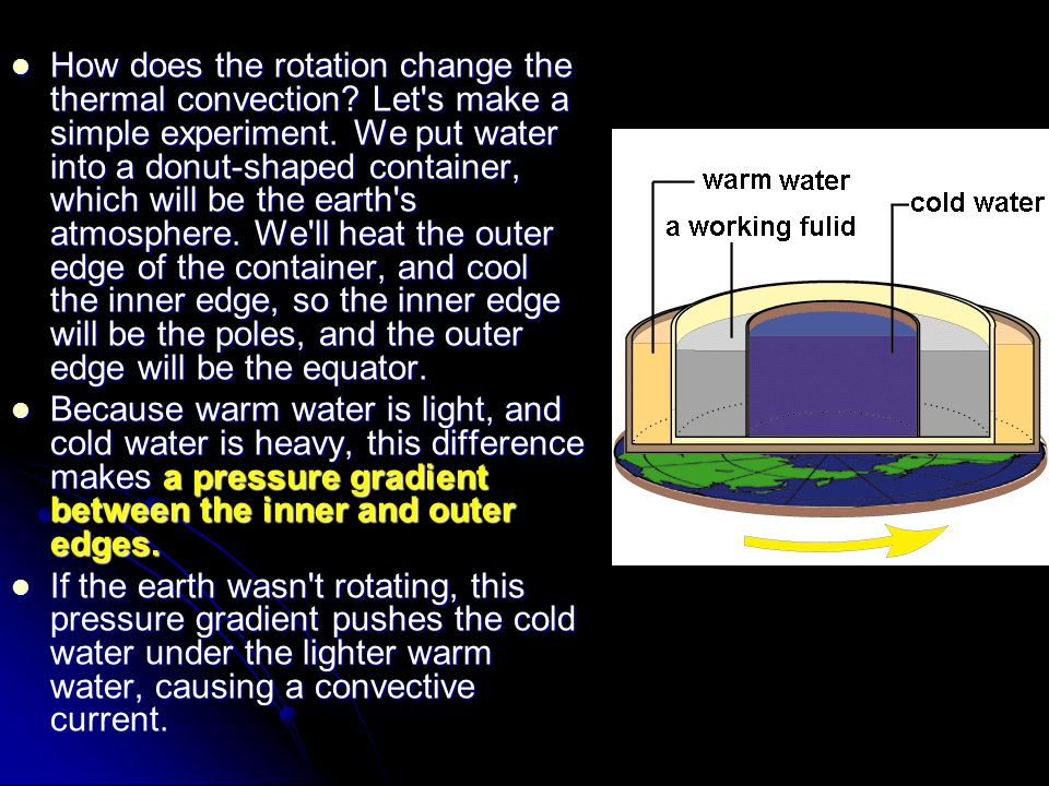 How does the rotation change the thermal convection