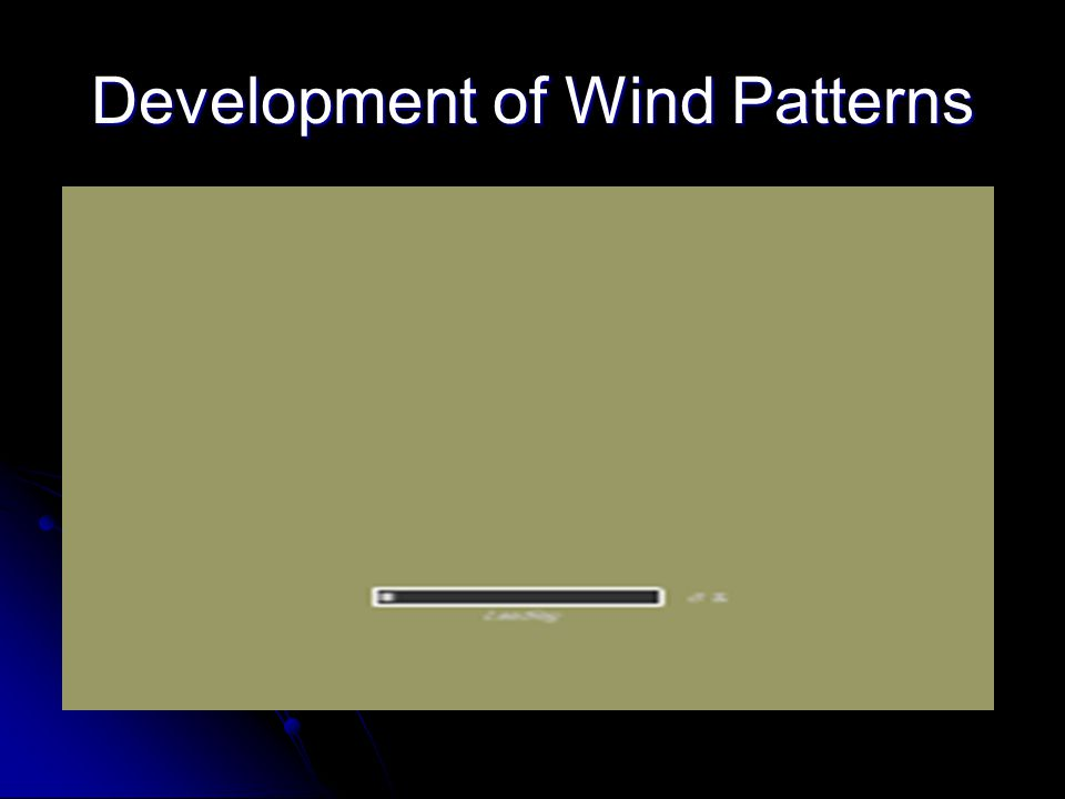 Development of Wind Patterns