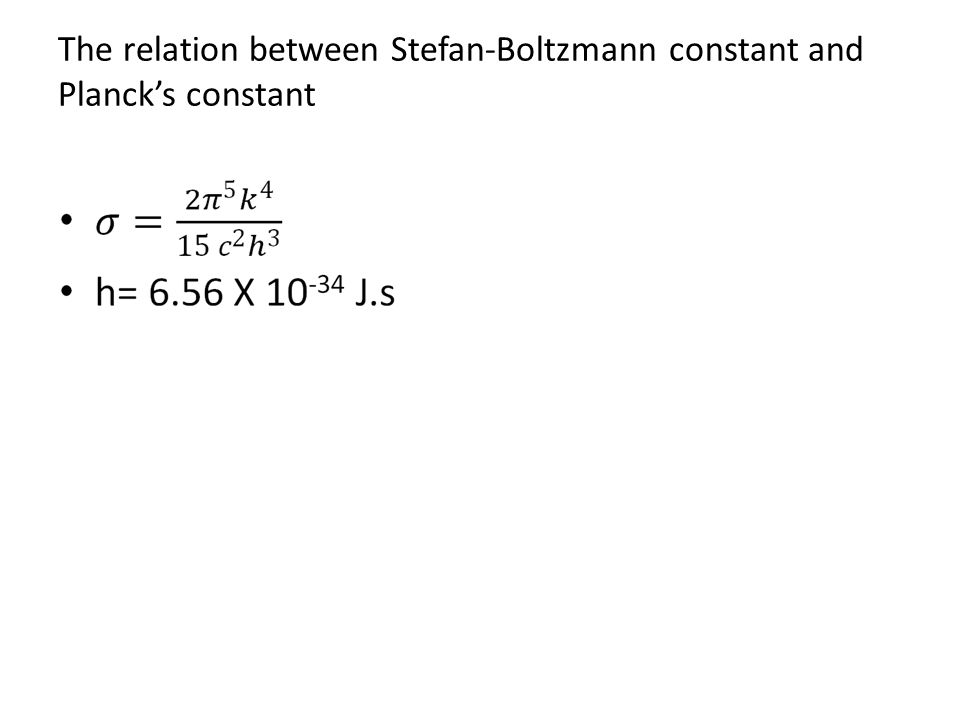 The relation between Stefan-Boltzmann constant and Planck's constant