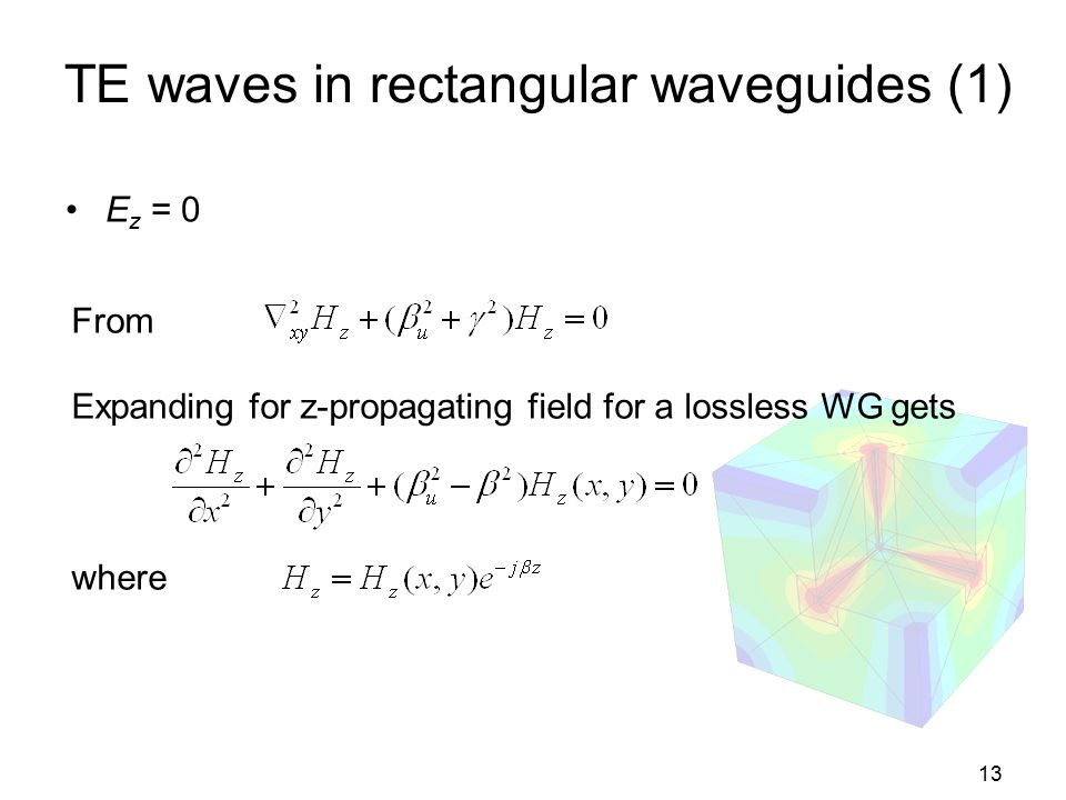TE waves in rectangular waveguides (1)