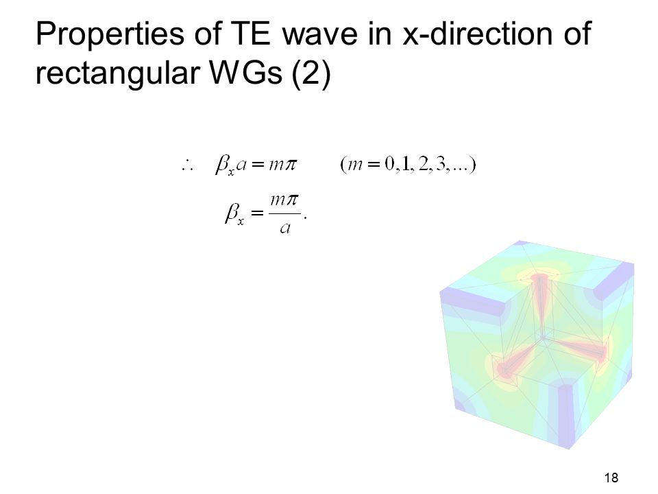 Properties of TE wave in x-direction of rectangular WGs (2)