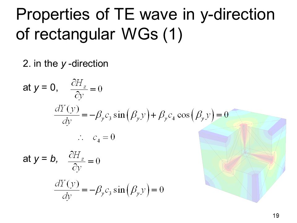 Properties of TE wave in y-direction of rectangular WGs (1)