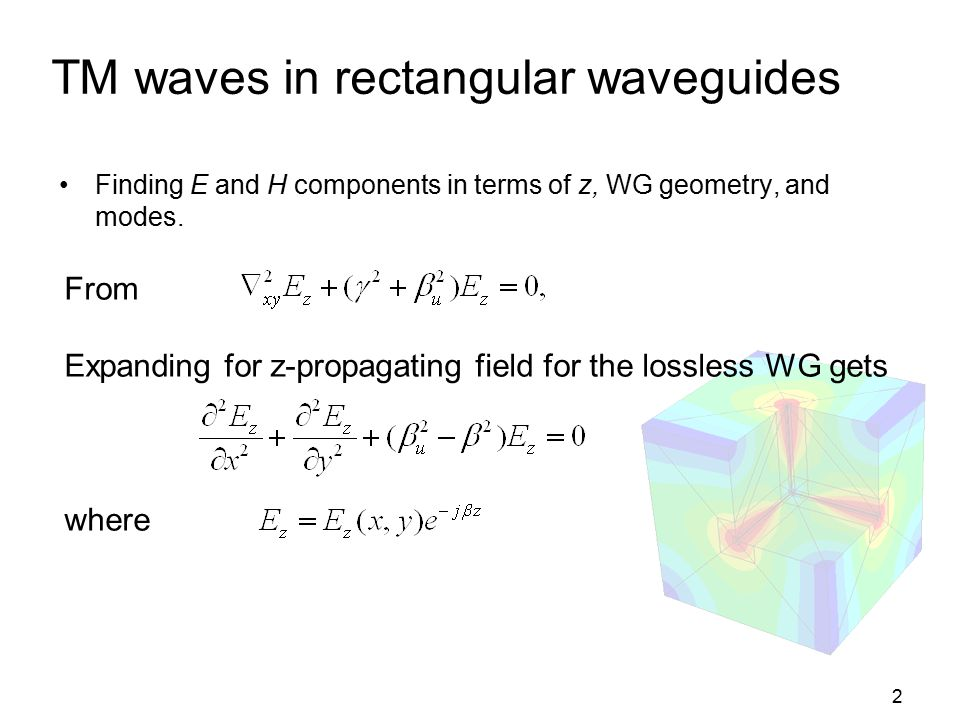 TM waves in rectangular waveguides