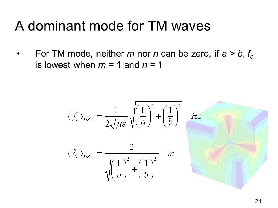 A dominant mode for TM waves