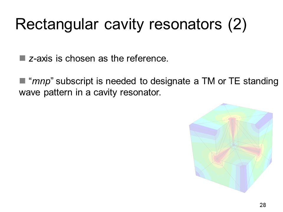 Rectangular cavity resonators (2)