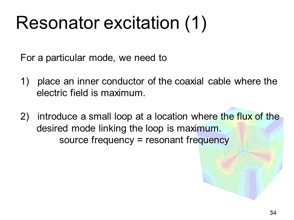 Resonator excitation (1)