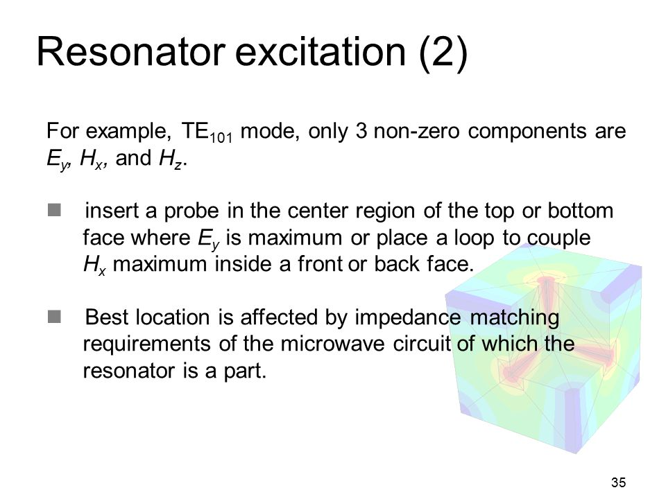 Resonator excitation (2)