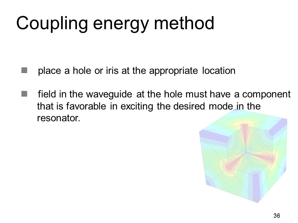 Coupling energy method