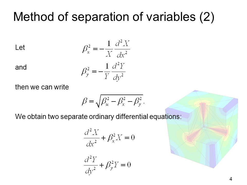 Method of separation of variables (2)