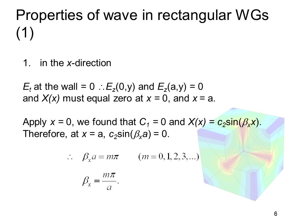 Properties of wave in rectangular WGs (1)