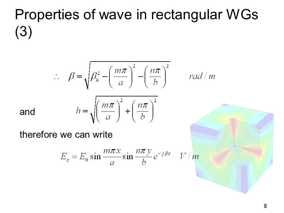 Properties of wave in rectangular WGs (3)