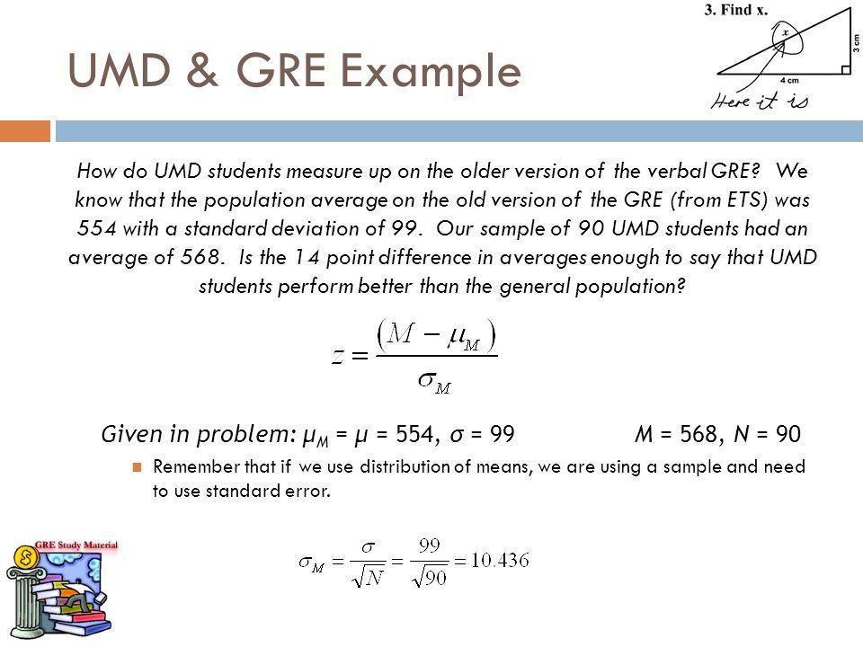 UMD & GRE Example