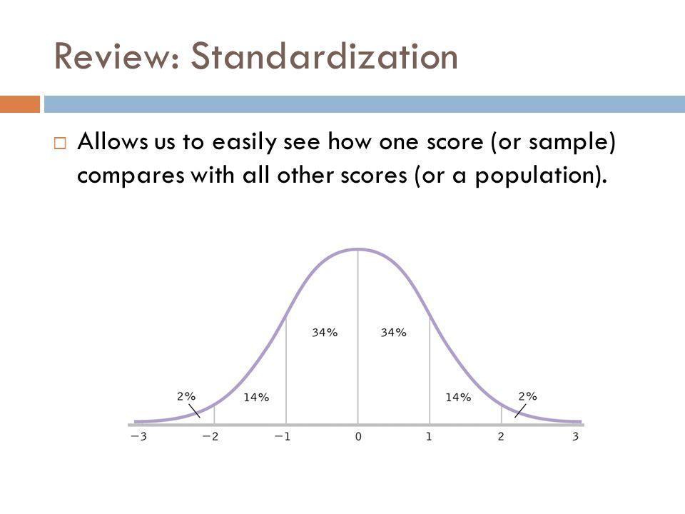 Review: Standardization