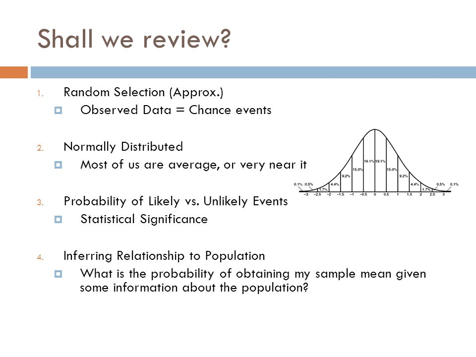 Shall we review Random Selection (Approx.)