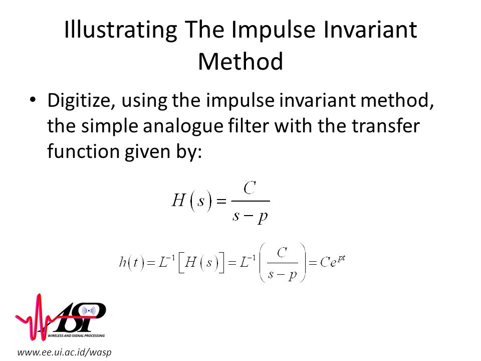 Illustrating The Impulse Invariant Method