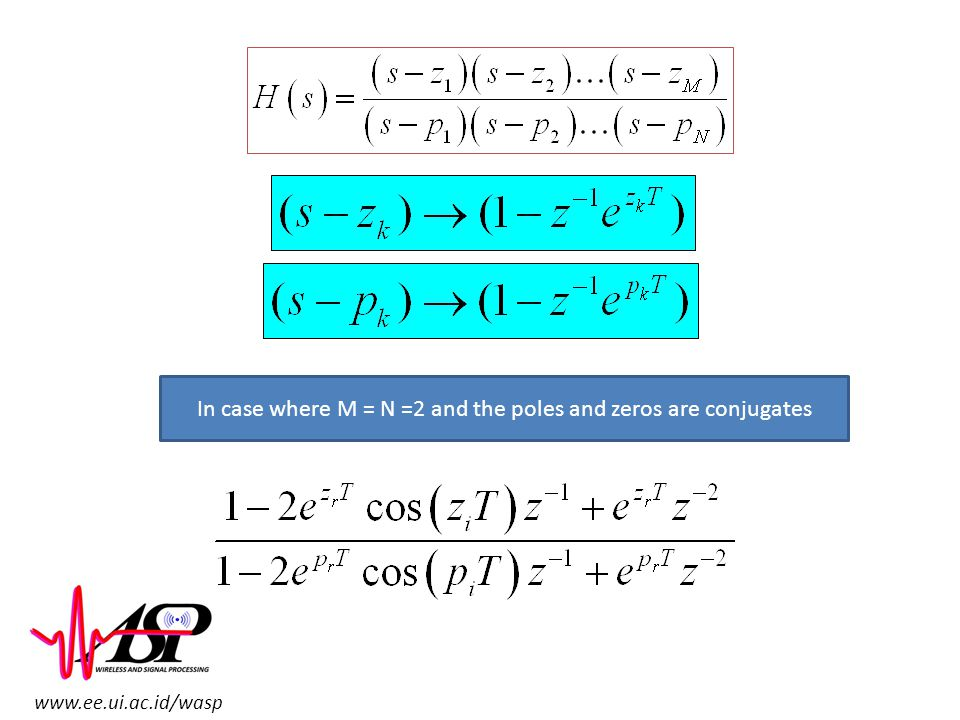 In case where M = N =2 and the poles and zeros are conjugates