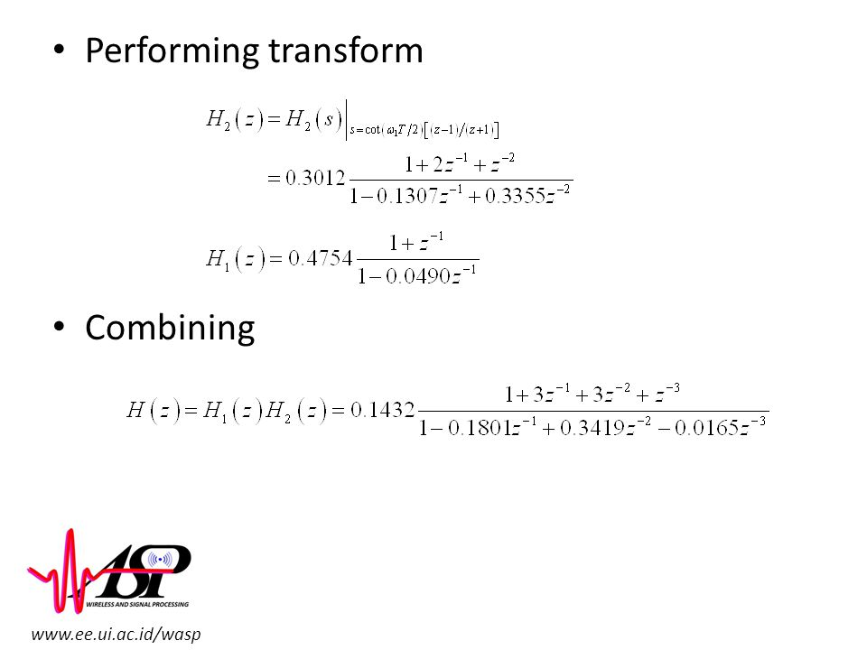 Performing transform Combining