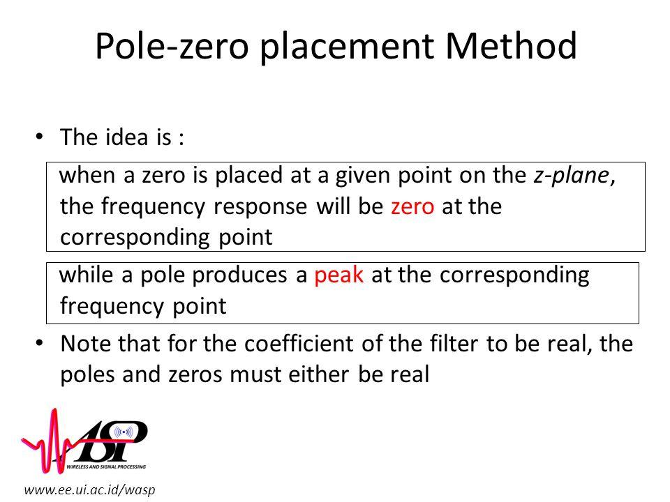 Pole-zero placement Method