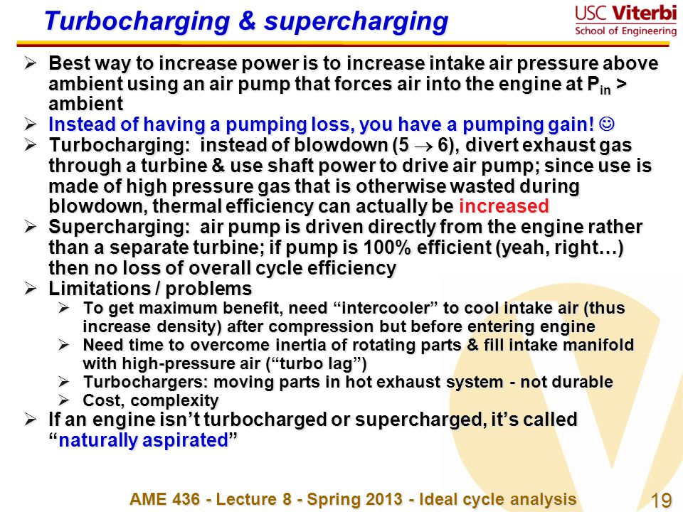 Turbocharging & supercharging