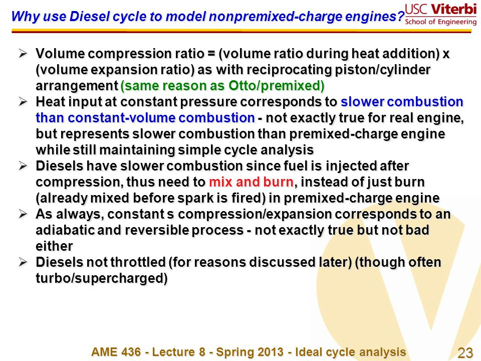 Why use Diesel cycle to model nonpremixed-charge engines