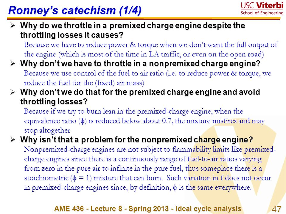 Ronney's catechism (1/4)