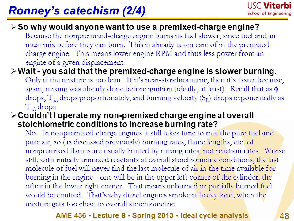 Ronney's catechism (2/4)