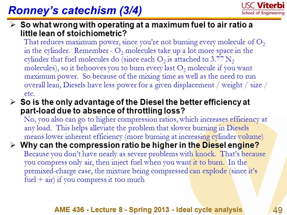 Ronney's catechism (3/4)