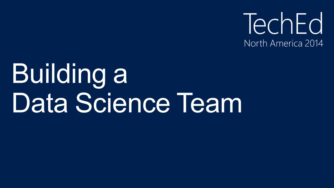 Building a Data Science Team