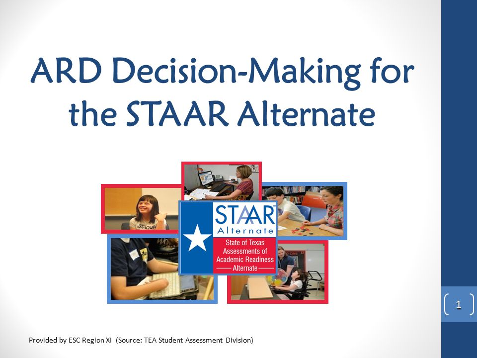 ARD Decision-Making for the STAAR Alternate
