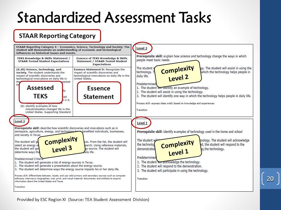 Standardized Assessment Tasks