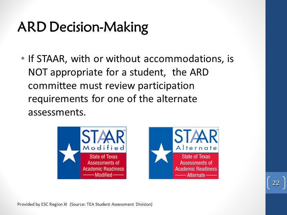 STAAR Alternate ARD Decisions