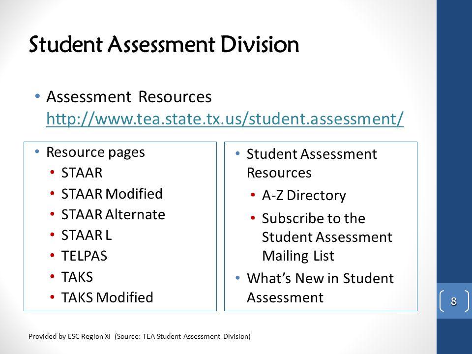 Student Assessment Division